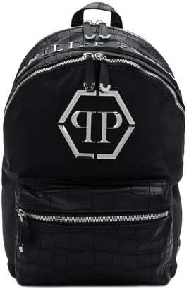 Philipp Plein croco-embossed backpack