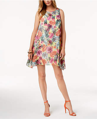 Robbie Bee Petite Cactus Chiffon Shift Dress