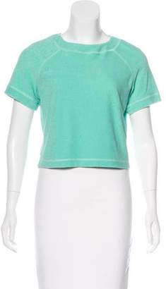Opening Ceremony Short Sleeve Terry Cloth Top