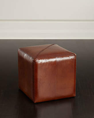 Jamie Young Boland Small Leather Ottoman