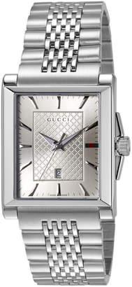 Gucci 33mm G-Timeless Rectangle Bracelet Watch, Silvertone