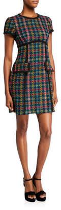 Nanette Lepore Colorful Tweed Sheath Dress