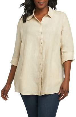 Foxcroft Cici Linen Chambray Shirt