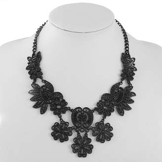 MIXIT Mixit Womens Black Collar Necklace