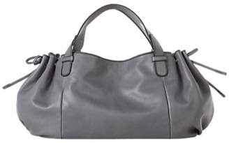 Gerard Darel Le 24 GD Leather Shoulder Bag, Grey