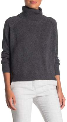 Lynk Knyt & Turtleneck High/Low Hem Cashmere Sweater