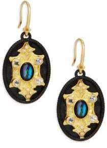 Armenta Old World Mother-Of-Pearl, Topaz & 18K Yellow Gold Drop Earrings