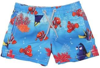 MC2 Saint Barth Disney Nemo Print Nylon Swim Shorts