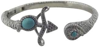 Judith Ripka Sterling Silver Cubic Zirconia & Turquoise Cuff Bracelet