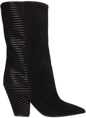 Lerre Black Leather And Suede Boots
