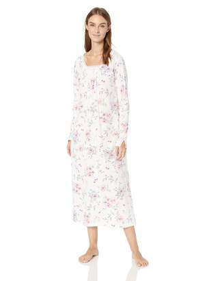 Carole Hochman Women's Rose Floral Long Gown