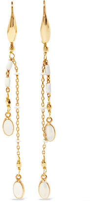 Isabel Marant Gold-tone Enamel Drop Earrings