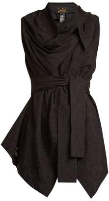 Vivienne Westwood Square-neck tie-waist broderie-anglaise top