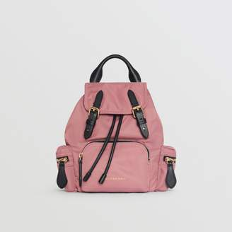Burberry The Small Crossbody Rucksack in Nylon, Pink