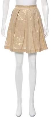 See by Chloe Metallic Pleated Skirt