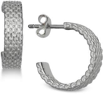 0dd29b633 Giani Bernini Mesh-Look Hoop Earrings in Sterling Silver