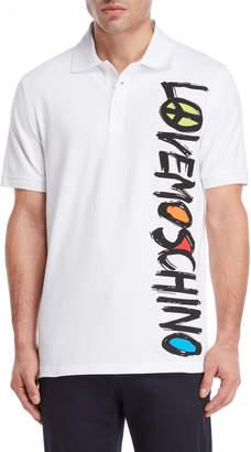 Love Moschino Vertical Logo Polo