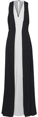 Vionnet Two-Tone Silk-Blend Crepe De Chine Gown