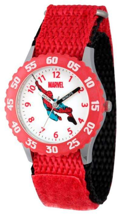 Marvel Spider-Man Kid's Time-Teacher Watch with Rotating Bezel – Red