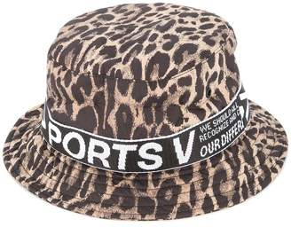 Ports V leopard print sun hat