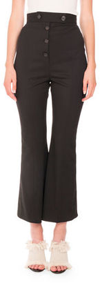 Proenza Schouler Flared Wool Suiting Pants $995 thestylecure.com