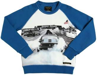 Finger In The Nose Car Printed Cotton Sweatshirt