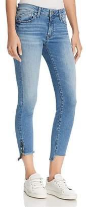 Mavi Jeans Adriana Ankle Zip Jeans in Mid Fringe Nolita
