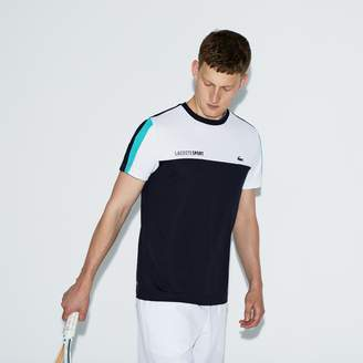 Lacoste Men's SPORT Crew Neck Colorblock Pique Tennis T-shirt