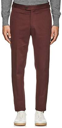 P. Johnson Men's Claret Cotton Twill Trousers