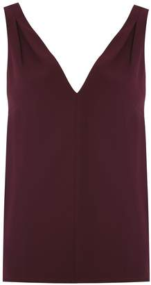 Egrey tank top with pleated details
