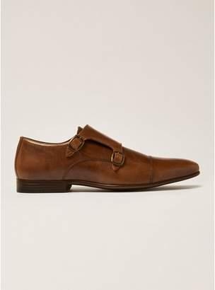 Topman Mens Brown Tan Leather Rocky Monk Shoes
