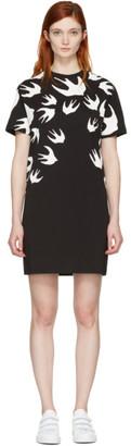 McQ Alexander McQueen Black Swallows T-Shirt Dress $195 thestylecure.com