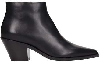 Lerre Black Leather Ankle Boots