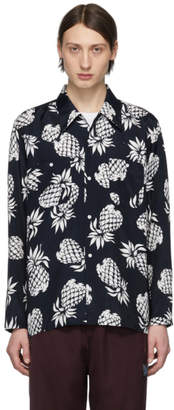 Needles Navy Pineapple One-Up Cowboy Shirt