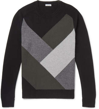Tomas Maier Colour-Block Cashmere Sweater