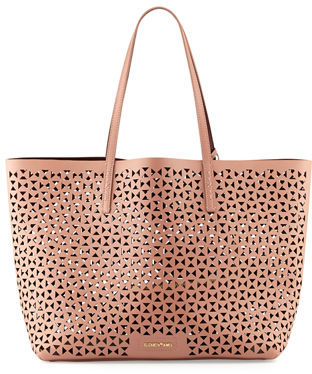 Elizabeth and James Daily Perforated Leather Tote Bag $445 thestylecure.com