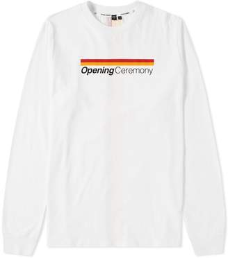 Opening Ceremony Long Sleeve Stripe Logo Tee