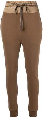 Ann Demeulemeester high-waisted track pants