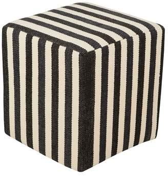 Surya Picnic Contemporary PVC Cube Pouf