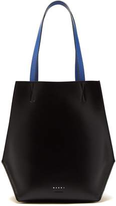 Marni Tangram small leather tote bag