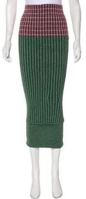 Jourden Metallic Varsity Ribbed Skirt w/ Tags