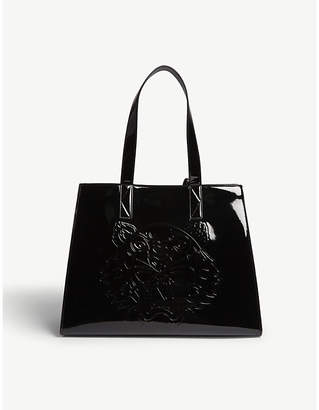 Kenzo Large tiger pattern leather tote $245 thestylecure.com