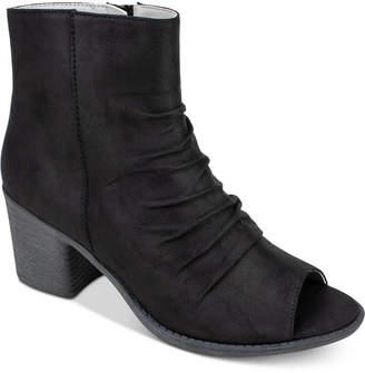 PeepToe Seven Dials Brinson Peep-Toe Block-Heel Booties Women's Shoes