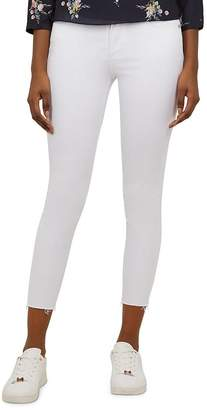 Ted Baker Catarsi Raw-Hem Skinny Jeans in White