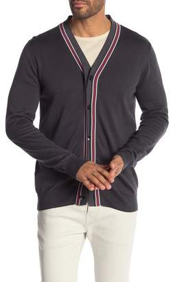 Perry Ellis Double Placket V-Neck Cardigan