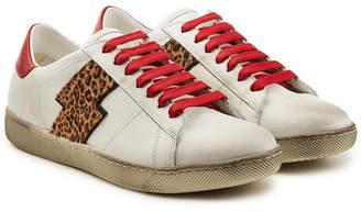 Amiri Viper Leopard Low Leather Sneakers