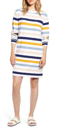 Lou & Grey Stripe Long Sleeve Cozy Jersey Dress