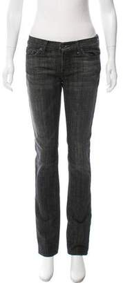 7 For All Mankind Seven Low-Rise Straight-Leg Jeans