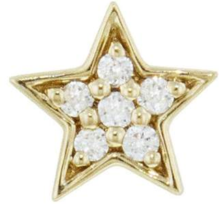 Andrea Fohrman Mini Diamond Star Single Stud Earring - Yellow Gold