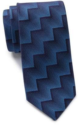 Thomas Pink Silk Wylie Geo Skinny Tie
